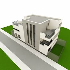 Free 3d Modern House Stock Image - 18331491