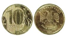 Free Two Sides Of The Coin Ten Rubles Royalty Free Stock Image - 18331506