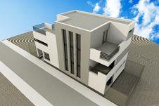 Free 3d Modern House Stock Photo - 18331570