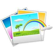 Polaroid Photo Of Landscape Royalty Free Stock Photos