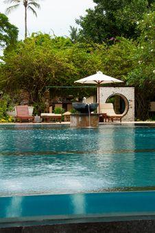 Tropical Infinity Pool Stock Photo