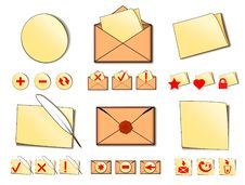 Set Of Icons For Email. Royalty Free Stock Image
