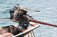 Free Engine Of Long Tailed Boat Royalty Free Stock Photography - 18332217
