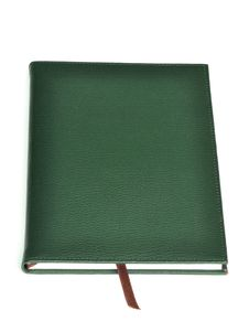 Free Dark Green Leather Notebook Stock Images - 18332284