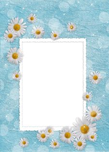 Card For The Holiday  With Flowers Stock Photo