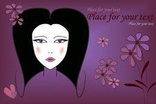 Girl On Purple Royalty Free Stock Image