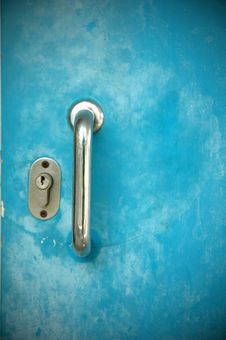 Free Blue Door Close Up Stock Photography - 18333142