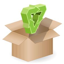 Free Box And Arrow Royalty Free Stock Image - 18333206