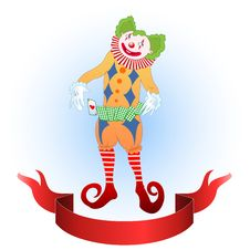 Free Clown Juggling Colorful Playing Card Royalty Free Stock Photo - 18333625