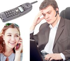 Communication Collage Royalty Free Stock Photo
