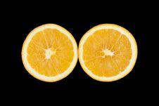 Free Black Background Orange Royalty Free Stock Photography - 18333987