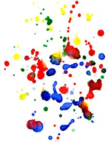 Free Abstract Colorful  Drops Royalty Free Stock Images - 18334019