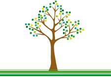 Free Abstract Green Tree Stock Photography - 18334562