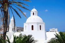 Free Greece White Church Royalty Free Stock Photo - 18334735