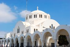 Greece White Church Stock Images