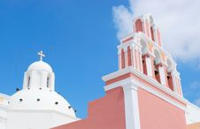 Greece White Church Royalty Free Stock Photo