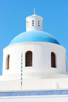 Free Greece Blue Church Stock Photography - 18335042