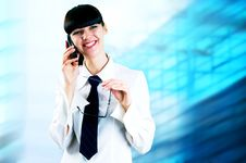 Free Happiness Businesswoman Royalty Free Stock Photography - 18335657