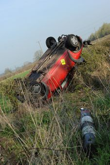 Overturned Car Stock Photos