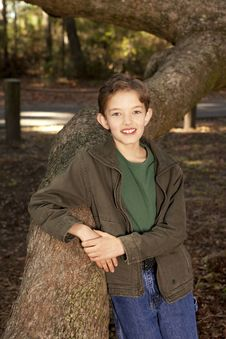 Free Portrait Of Young Boy Stock Photography - 18336082