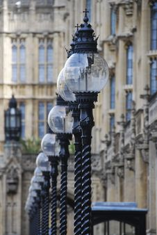 Free Lamps In A Row Royalty Free Stock Photography - 18336467