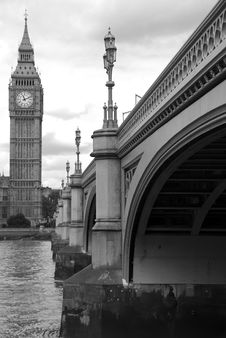 Bridge To Big Ben Royalty Free Stock Photo