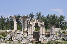 Classical Beijing-Old Summer Palace Stock Image