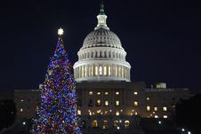 Free Capitol Christmas Stock Image - 18336811