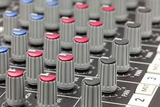 Free Closeup Of Audio Mixing Console. Stock Photography - 18337452