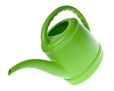 Free Green Plastic Watering Can Royalty Free Stock Photo - 18337795