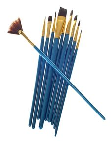 Free Variety Of Blue Paintbrushes Stock Photos - 18337863