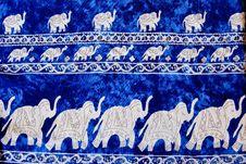 Elephant Pattern Thai Style Background Stock Photo