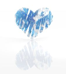 Free Blue Ice Heart Royalty Free Stock Images - 18338849