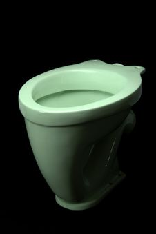 Free The Light Green Toilet Bowl Royalty Free Stock Photo - 18339035