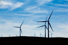 Free Wind Farm With Blue Sky Royalty Free Stock Photography - 18339127