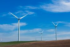 Free Wind Farm With Blue Sky Stock Images - 18339194