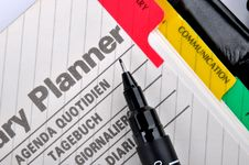 Free Note Planner Page Stock Photo - 18340660