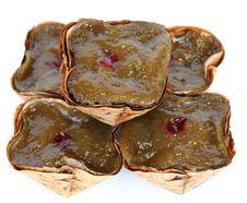Basket Shaped Chinese Pudding Stock Images
