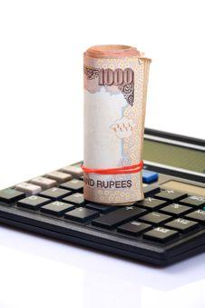 Free Calculating Savings Royalty Free Stock Photos - 18341308