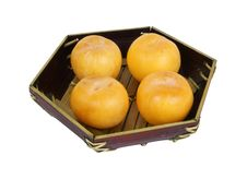 Free Yellow Plums On A Dark Blue Plate Royalty Free Stock Photo - 18343045