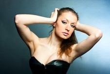 Free A Girl In A Corset Royalty Free Stock Photo - 18343075