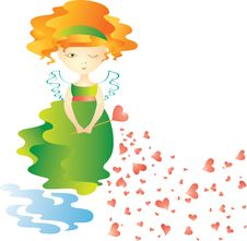 Love Fairy Royalty Free Stock Image