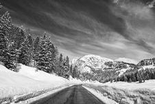 Free Snow On The Dolomites Mountains, Italy Stock Photos - 18346243