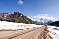 Free Snow On The Dolomites Mountains, Italy Stock Photo - 18346260