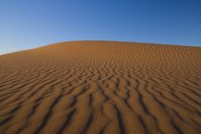 Free Colorful Sand Dunes In The Morning Sunlight Royalty Free Stock Photography - 18346757