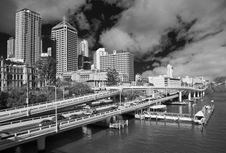 Free Traffic In The Outskirts Of Brisbane Stock Photo - 18346960