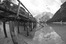 Braies Lake, Italy Stock Photos
