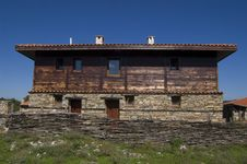 Bulgarian Traditional Wooden House Royalty Free Stock Photography