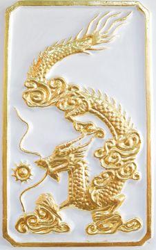 Free Gold Dragon On The White Background Royalty Free Stock Photos - 18347758