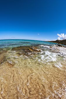 Crystal Waters Of Corsica Coast, France Stock Photography